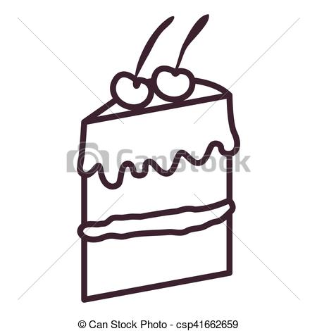 450x470 Isolated Cake Silhouette Design. Cake Silhouette Icon . Clipart