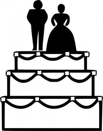 334x425 Wedding Cake, Clipart