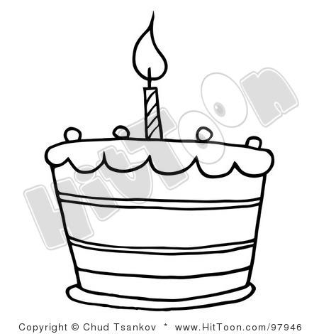 450x470 Birthday Cake Clipart Black And White Clipart Panda