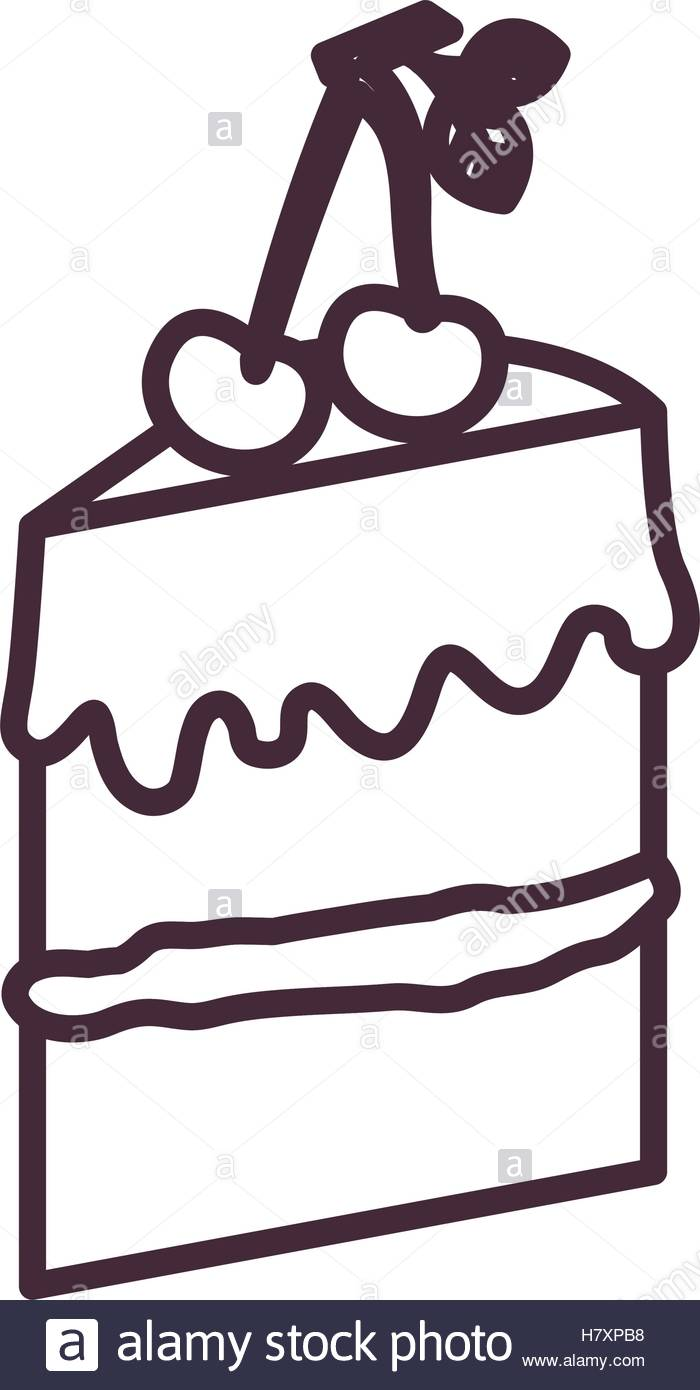 700x1390 Cake silhouette icon. Bakery shop traditional and product theme