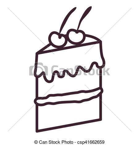 450x470 Isolated cake silhouette design. Cake silhouette icon . clipart