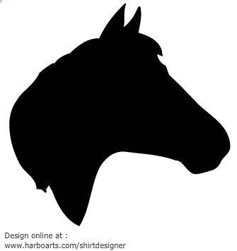 335x355 horse head silhouette vector graphics Cake Templates Pinterest