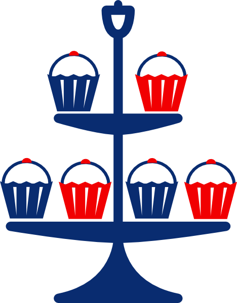 468x596 Cup Cake Stand Clip Art