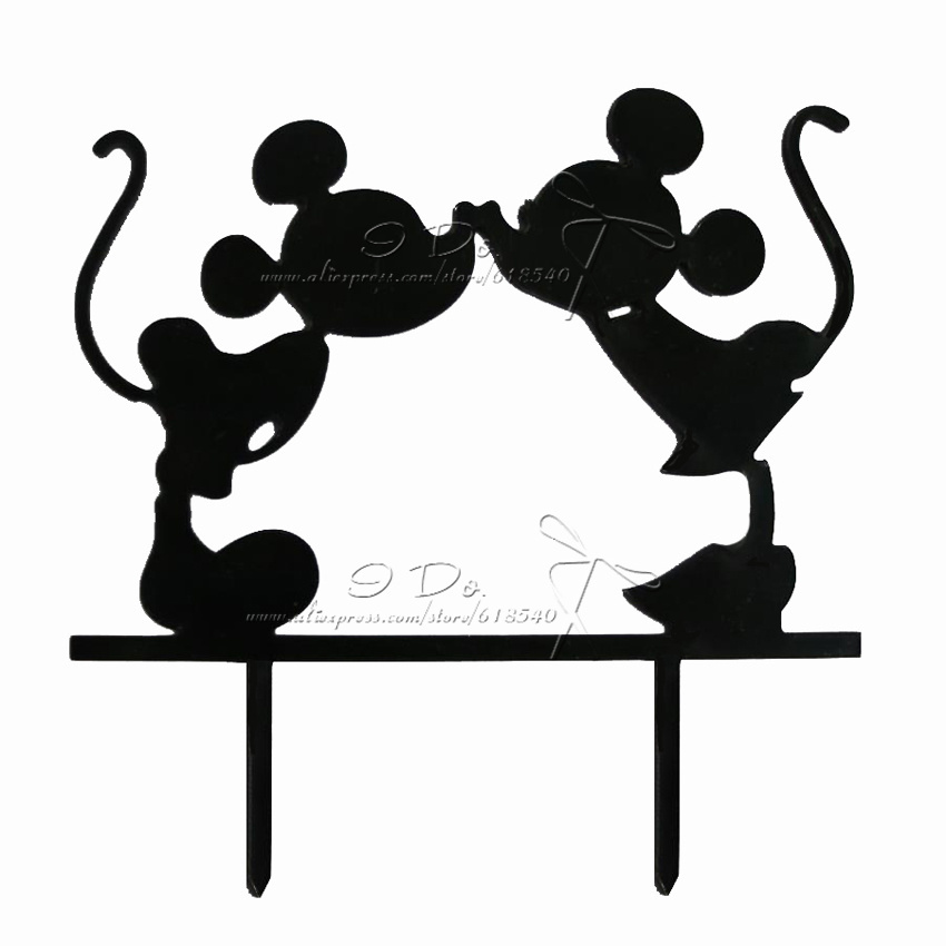 850x850 Free Shipping Acrylic Mickey And Minnie Wedding Cake Topper