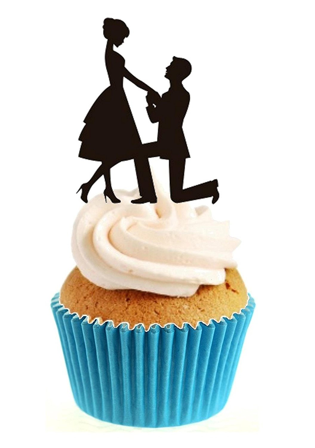1055x1500 Novelty Engagement Romance Proposal Silhouette 12 Edible Stand up