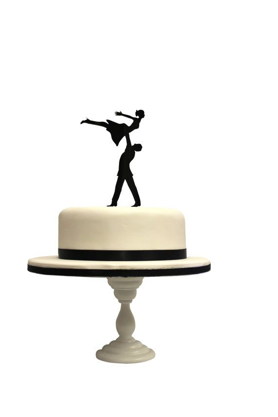 570x855 Silhouette Bride and Groom Dirty Dancing inspired Laser Cut Cake
