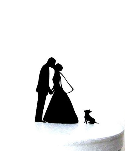 415x500 Bride amp Groom Acrylic Wedding Cake Stand Topper