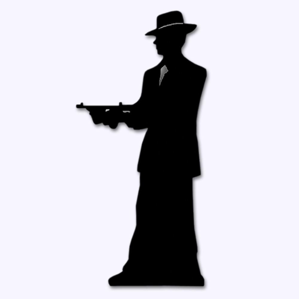 1000x1000 Stand up Gangster Silhouette 1.8m 1920s cake Pinterest