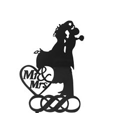 225x225 Wedding Cake Toppers Mr Mrs Decoration Bride and Groom Silhouette