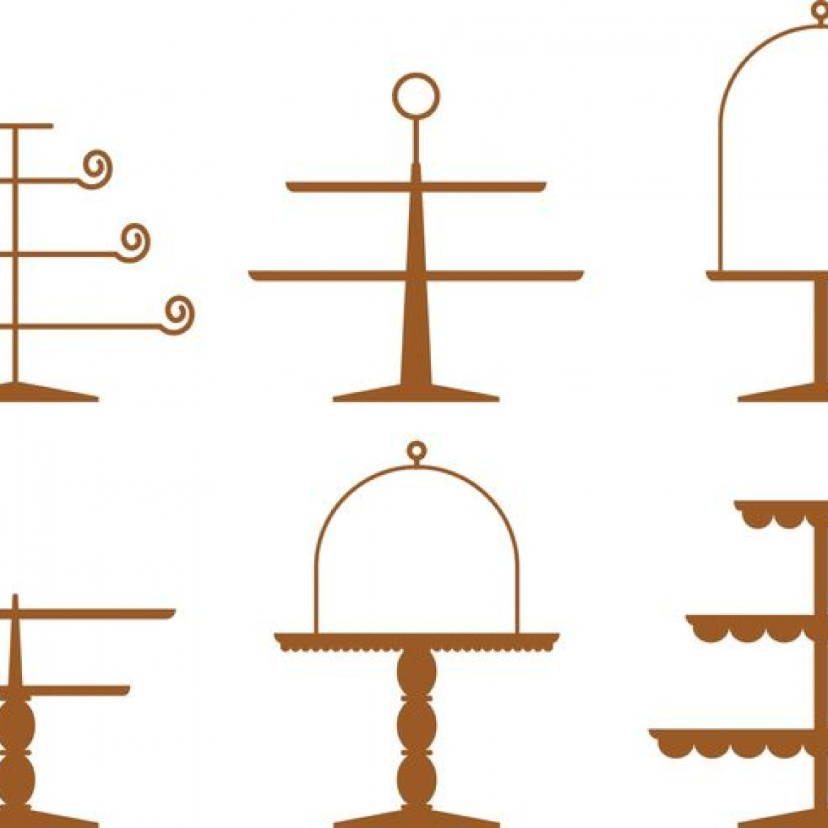 1170x1170 Amusing Cake Stand Vector Pictures