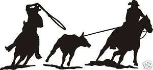 300x137 Team Roping Clipart Group