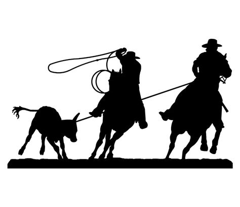 474x410 Rodeo Team Roping Silhouette Decal 8n X 3 Rodeo Pic