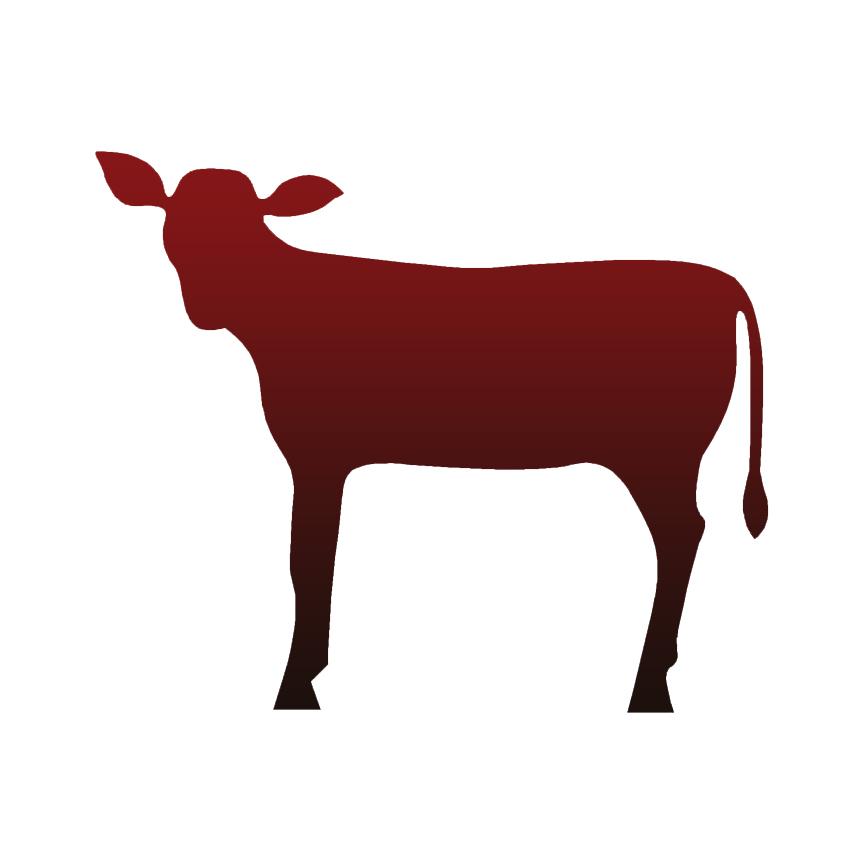864x864 Calf Cow Decal Sticker Choose Pattern + Size