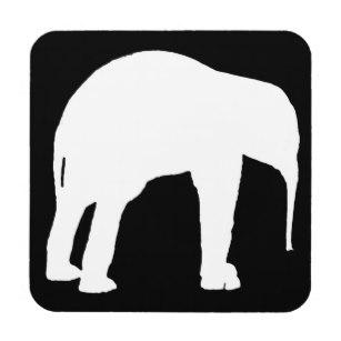 307x307 Elephants Silhouette Drink Amp Beverage Coasters Zazzle