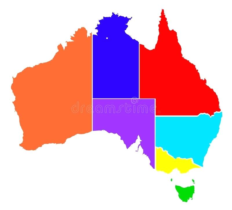 800x723 Maps Australian Map With States Of Outline Australia And Capital