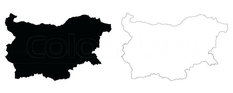 800x320 Maps Bulgaria Map Outline