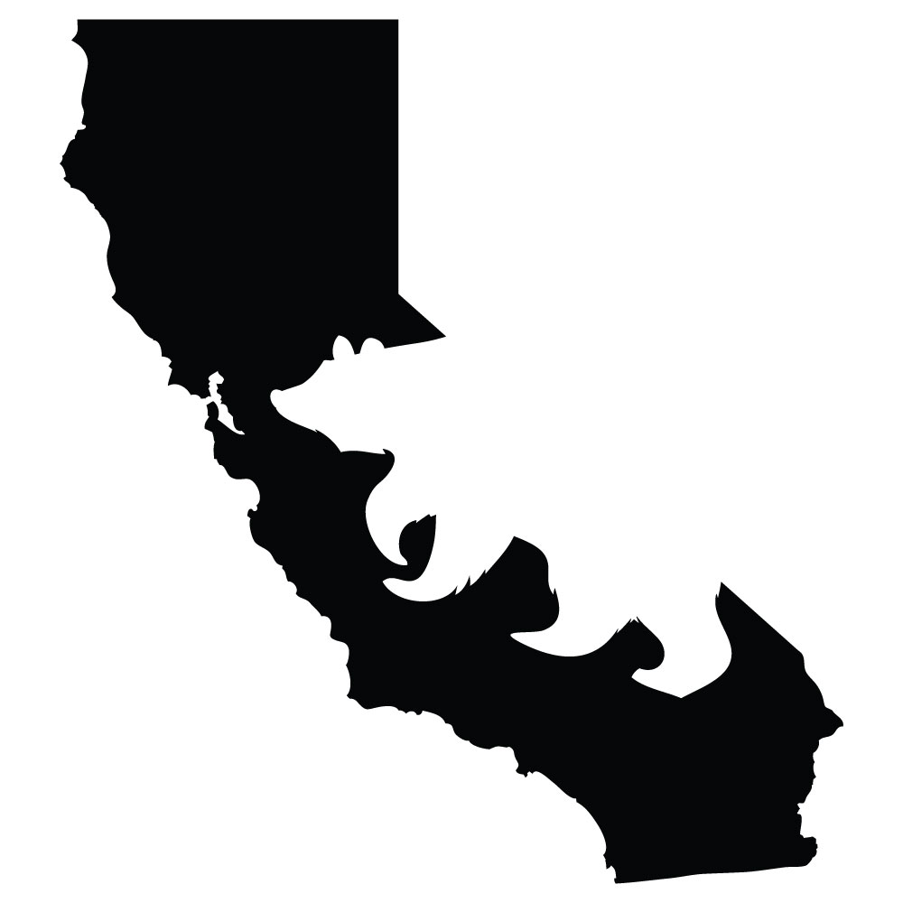 1000x1000 Silhouette Decal We Are California Grown