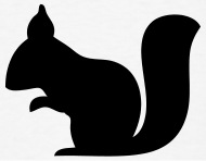 190x148 Squirrel Silhouette By Azza1070 Spreadshirt