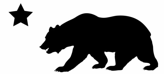 640x291 This Is A California Bear Silhouette Sticker Or Decal Vinyl Cut