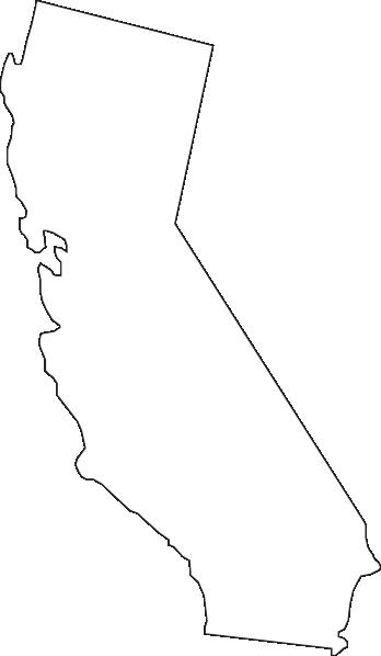 348x598 California Outline Clip Art