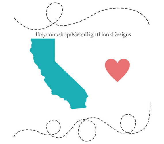 570x502 California Svg State Svg Silhouette Heart Svg And Dotted
