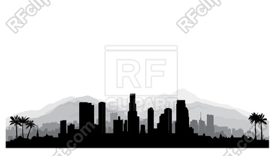 400x227 Los Angeles, Usa Skyline Royalty Free Vector Clip Art Image