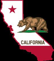 190x217 California Silhouette And Flag By Suncityartist Spreadshirt