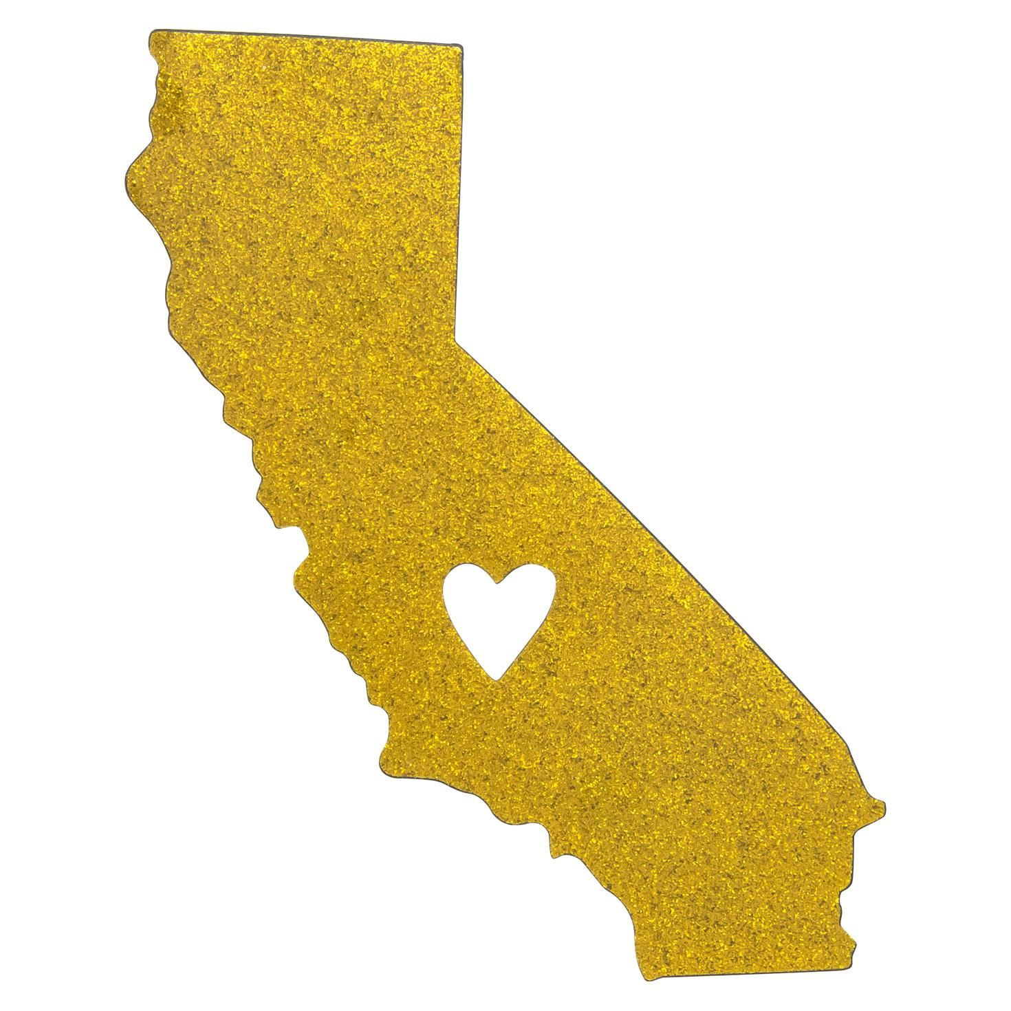1470x1470 California State Silhouette Car Magnet