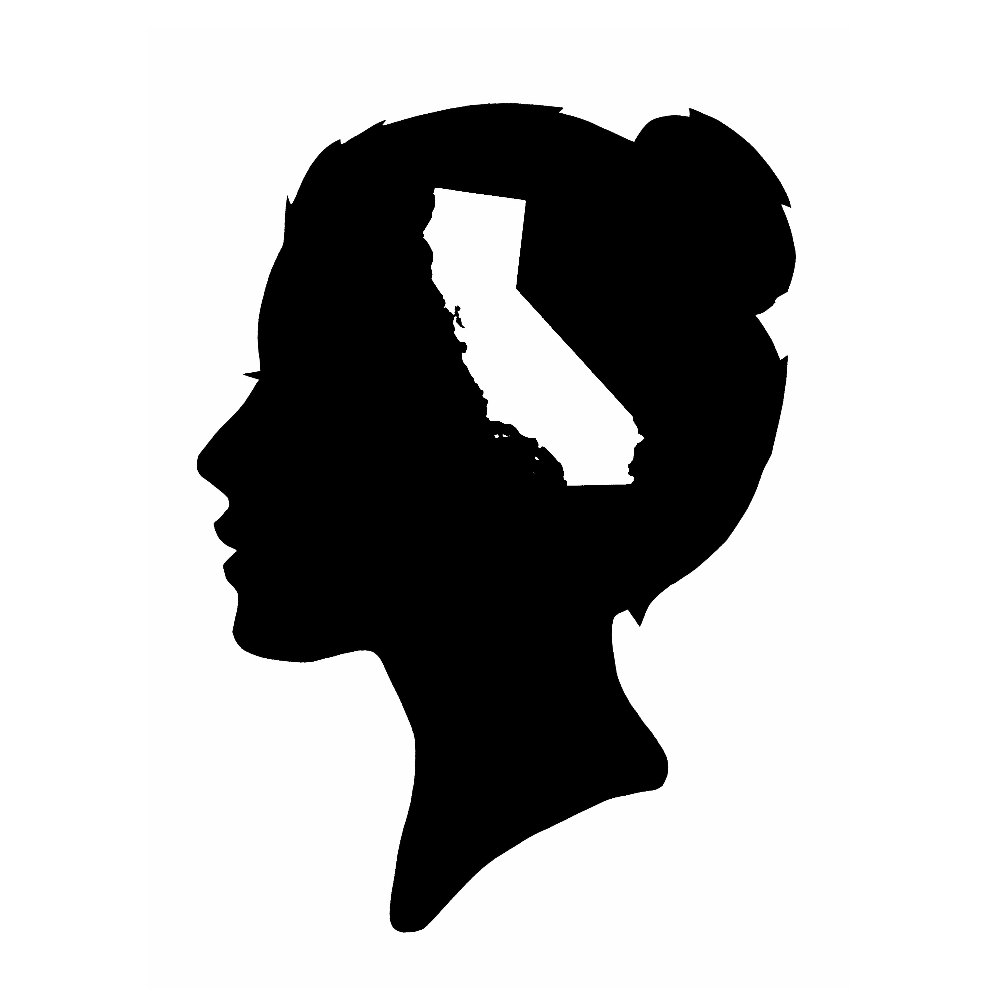 1000x1000 A California State Of Mind Silhouette Print Female Free Shipping