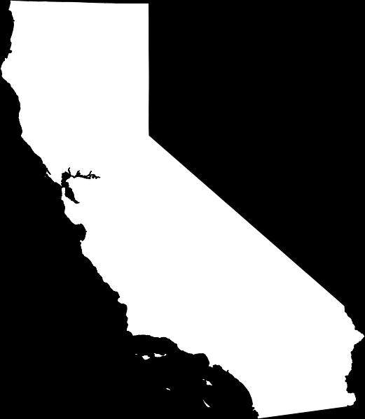 521x599 California Map Outline Map Of Usa States