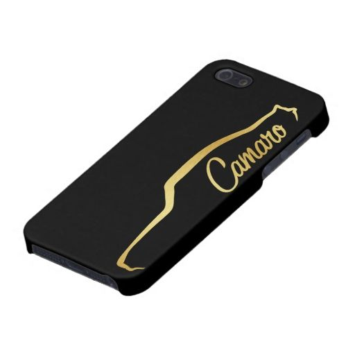 512x512 1969 Chevrolet Camaro Ss Gold Silhouette Case For Iphone Se55s