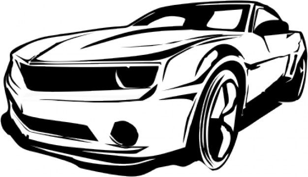 626x361 Carro Camaro Vector Limpio Graphic Vectors