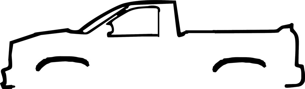 1024x300 Dodge Ram Silhouette Decal Drew's Decals