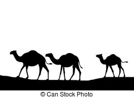264x194 Camels Silhouette. Illustration, Sunset And The Silhouette