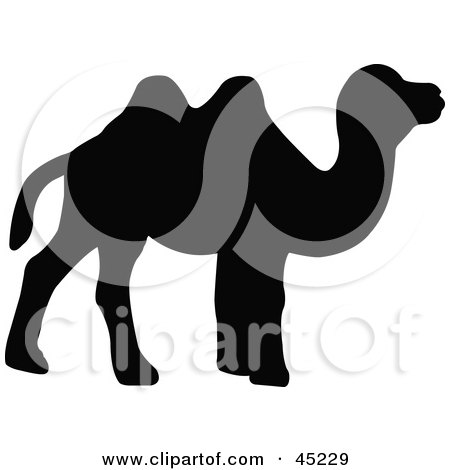 450x470 Royalty Free (Rf) Camel Silhouette Clipart, Illustrations, Vector