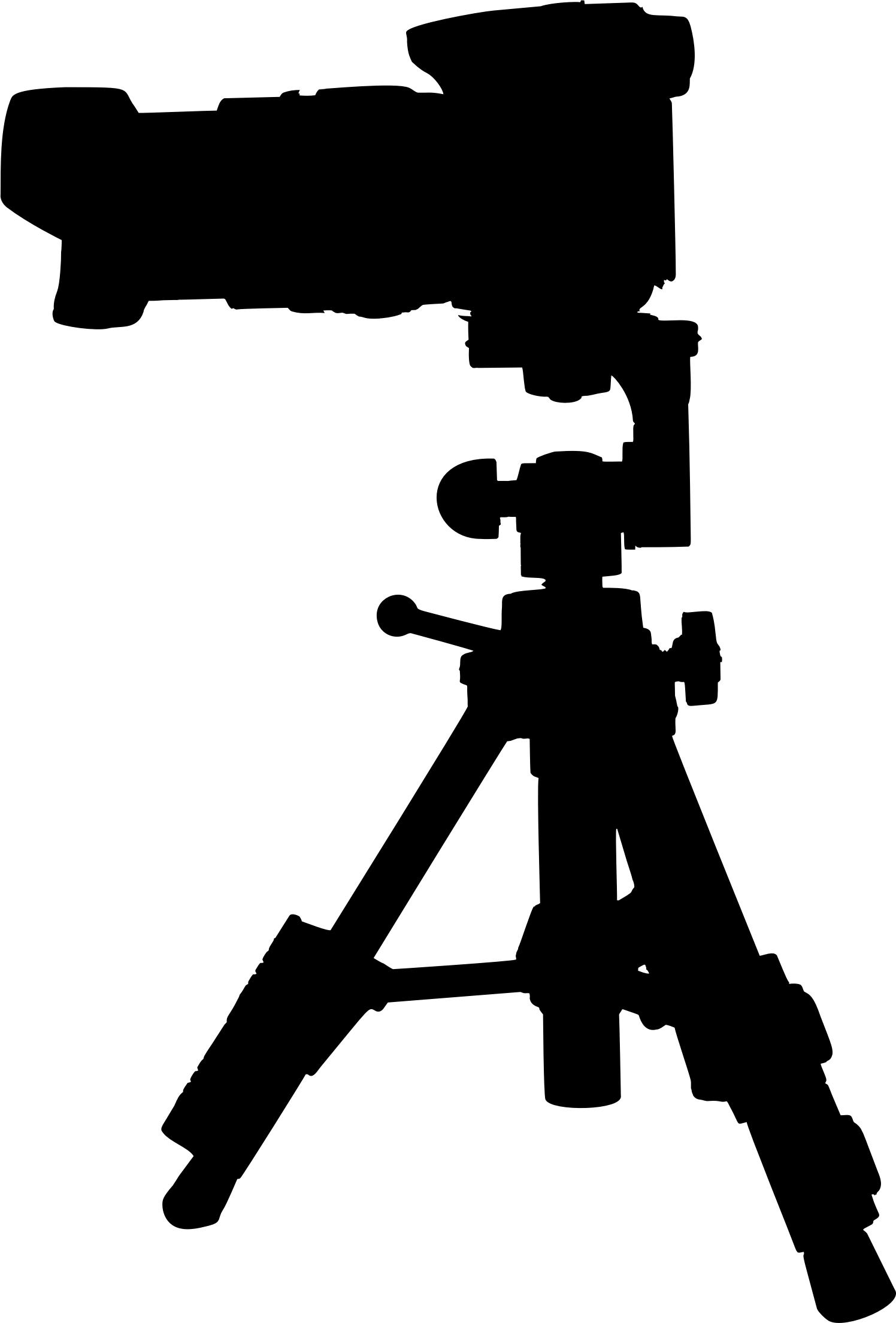 1496x2209 Camera On Tripod Silhouette 2 Icons Png