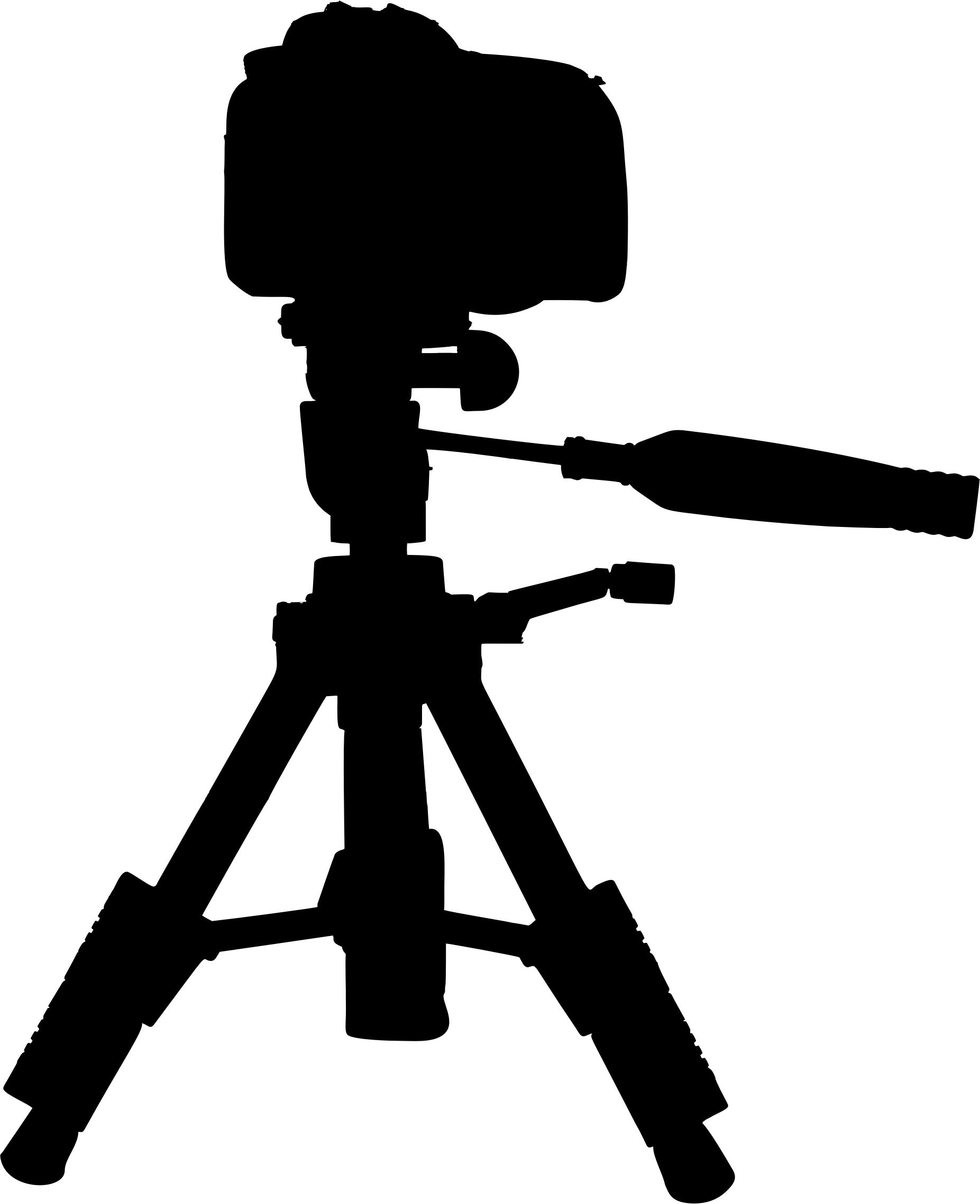 1853x2278 Camera On Tripod Silhouette Icons Png