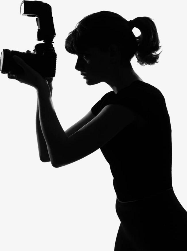 650x871 Female Photographer, Silhouette Photographer, Reporter Silhouette