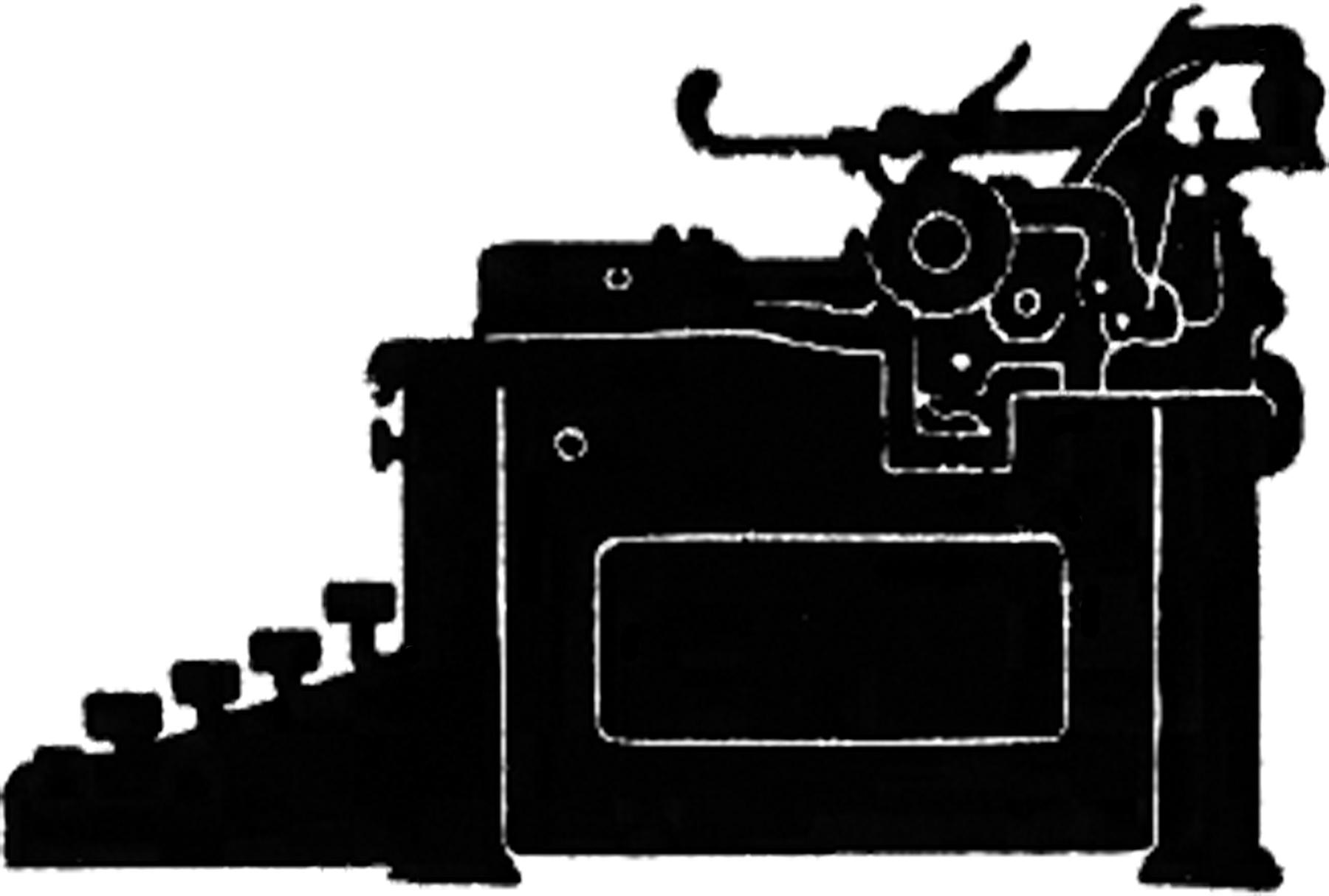 1800x1215 Vintage Typewriter Silhouette Image!