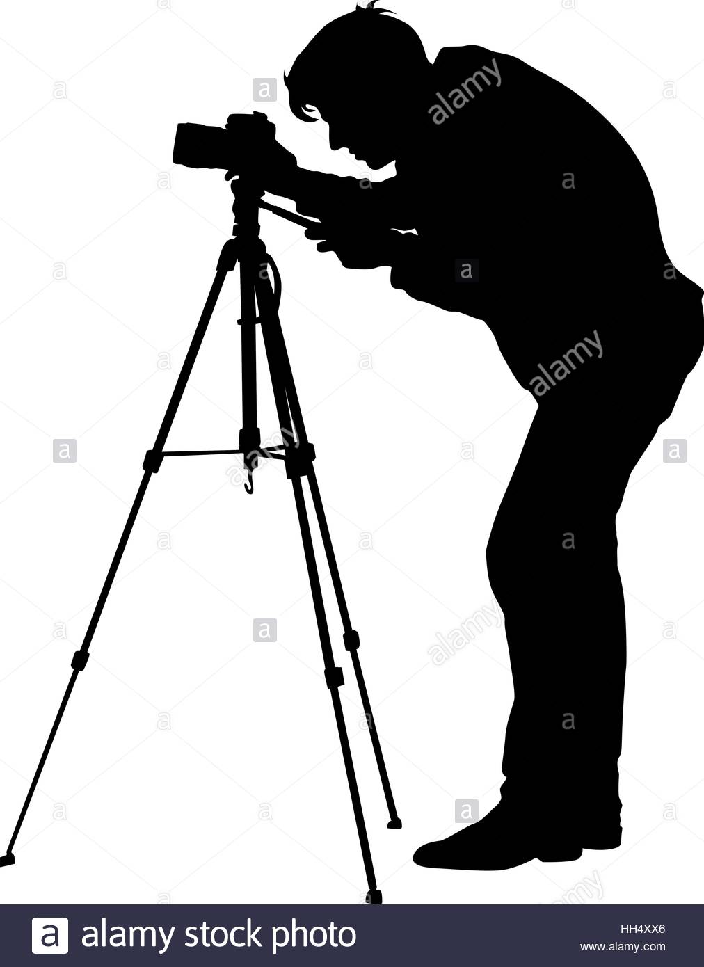 1012x1390 Cameraman With Video Camera. Silhouettes On White Background