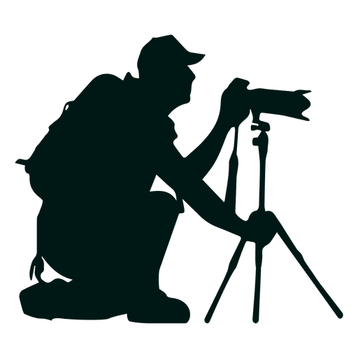512x512 Photographer With Camera Stand Silhouette