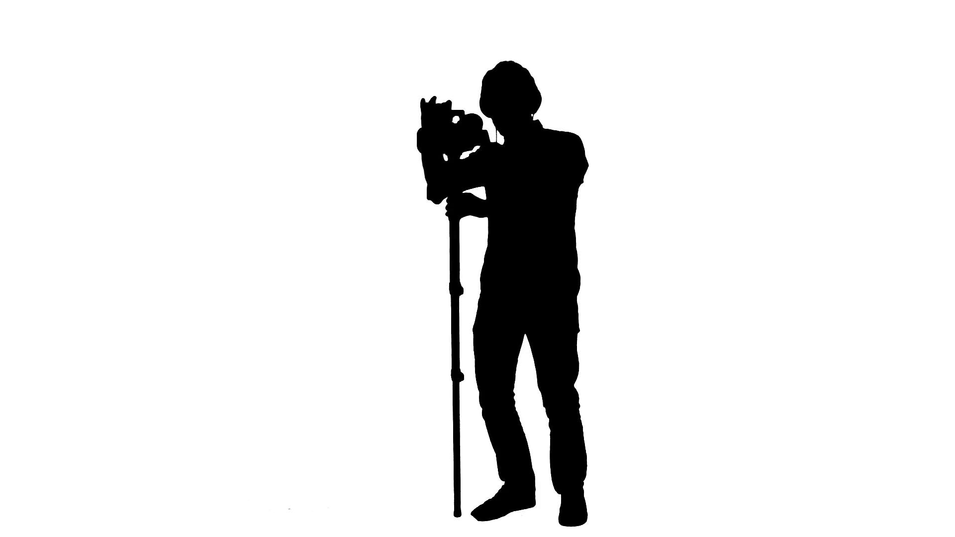 1920x1080 Cameraman Monopod Silhouette Working