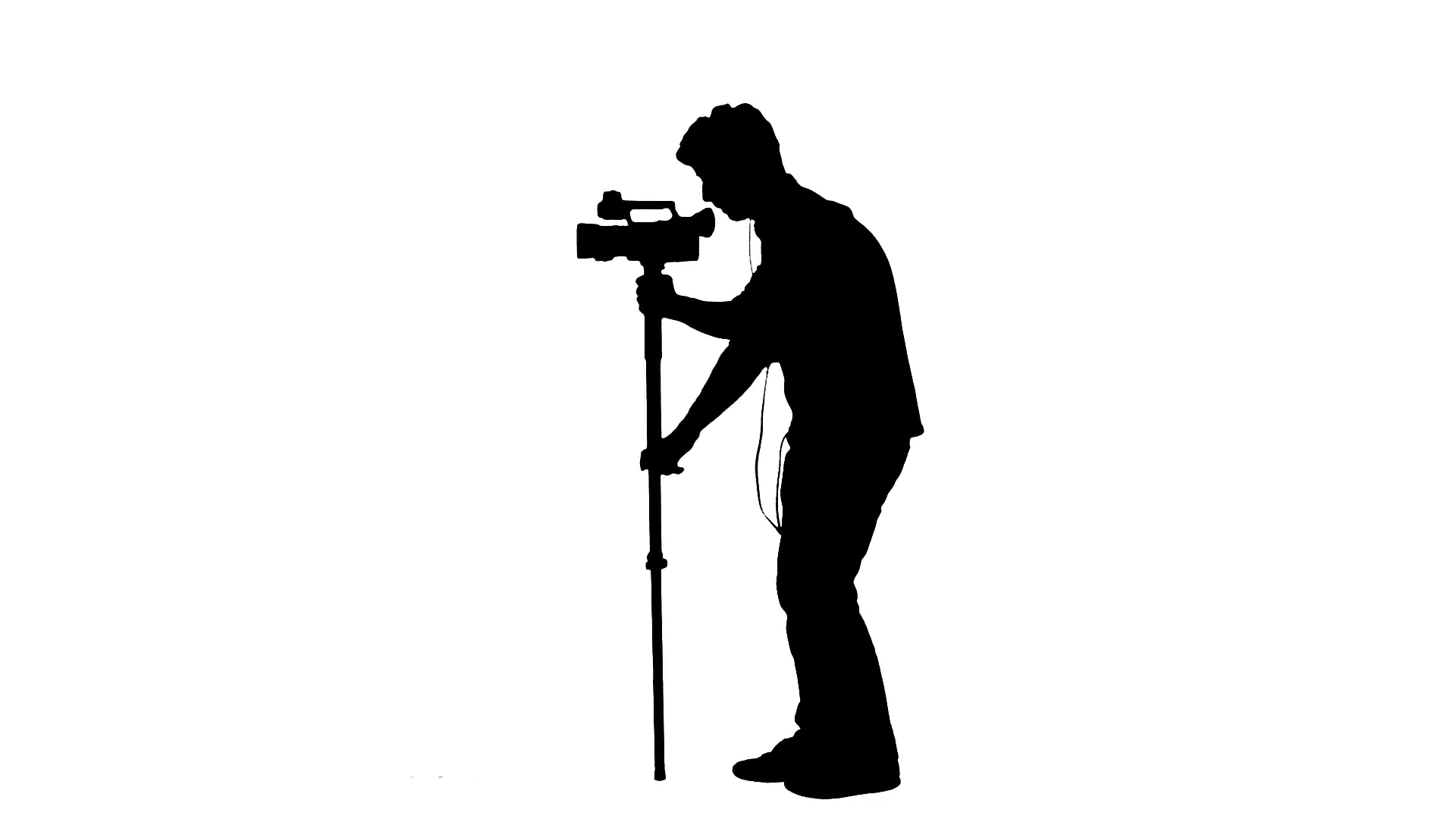 1920x1080 Cameraman Silhouette Recording Video