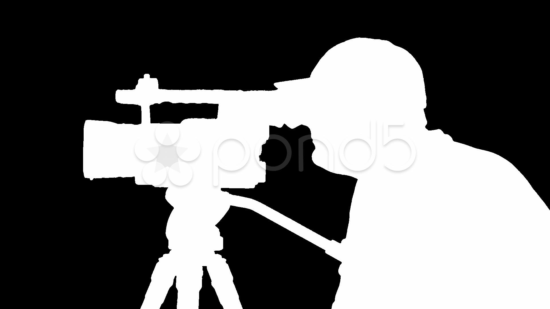 1920x1080 Cameraman Silhouette ~ Video Clip