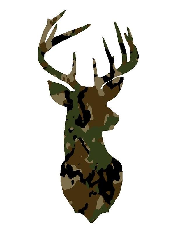618x800 Deer,deer Head,deer Silhouette,camo,camouflage,hunter Posters By