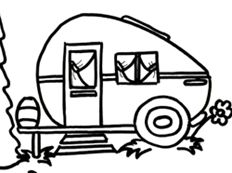 232x173 Happy Camper Clipart Pattern Set
