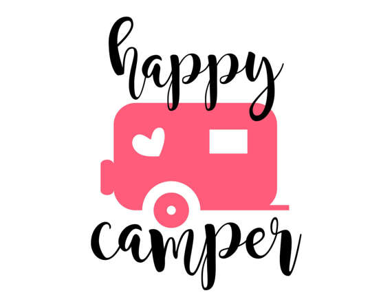 570x445 Happy Camper Svg, Eps, Dxf, Png, Camping Cutting File
