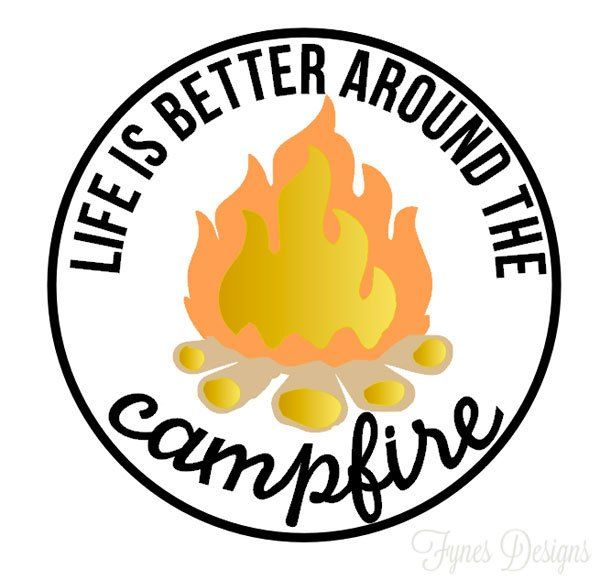 600x580 Camping Decals With Free Silhouette Cut Files Free Silhouette