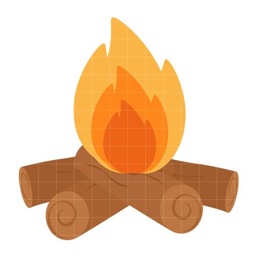 504x504 Campfire Clipart Silhouette Clipground