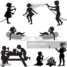 236x236 Camping Clipart Image Silhouette Of A Boy Roasting Marshmallow